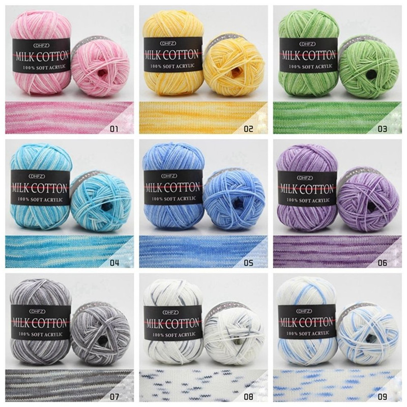 Sale 1Skein x50g Chunky Hand Wool Colorful Scarves Hand Knitting Crochet Yarn 13
