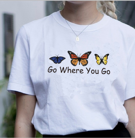 PUDO T shirt Album Everything I Wanted Go Whre you go Vintage Inspired Butterfly Tees Womens 60s 70s 80s 90s Style Cute Tees image