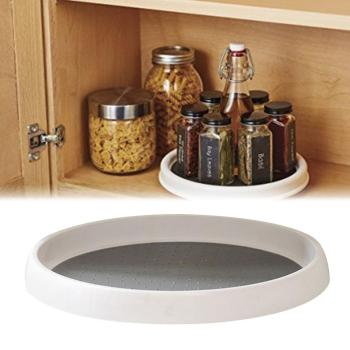 360 Rotation Non-Skid Pantry Cabinet Turntable with Wide Base Storage Bin Rotating Organizer for Kitchen Seasoning фото