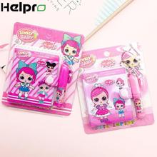 1 Набор LOL кукольная записная книжка с шариковой ручкой Kawaii Девушка Дневник для детей подарок школьные канцелярские принадлежности