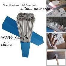 10/20/30/50 pces precisam de solda em pó haste de soldadura de alumínio 1.6/2/3. fio de baixa temperatura de 2mm sem caixa de armazenamento de pacote