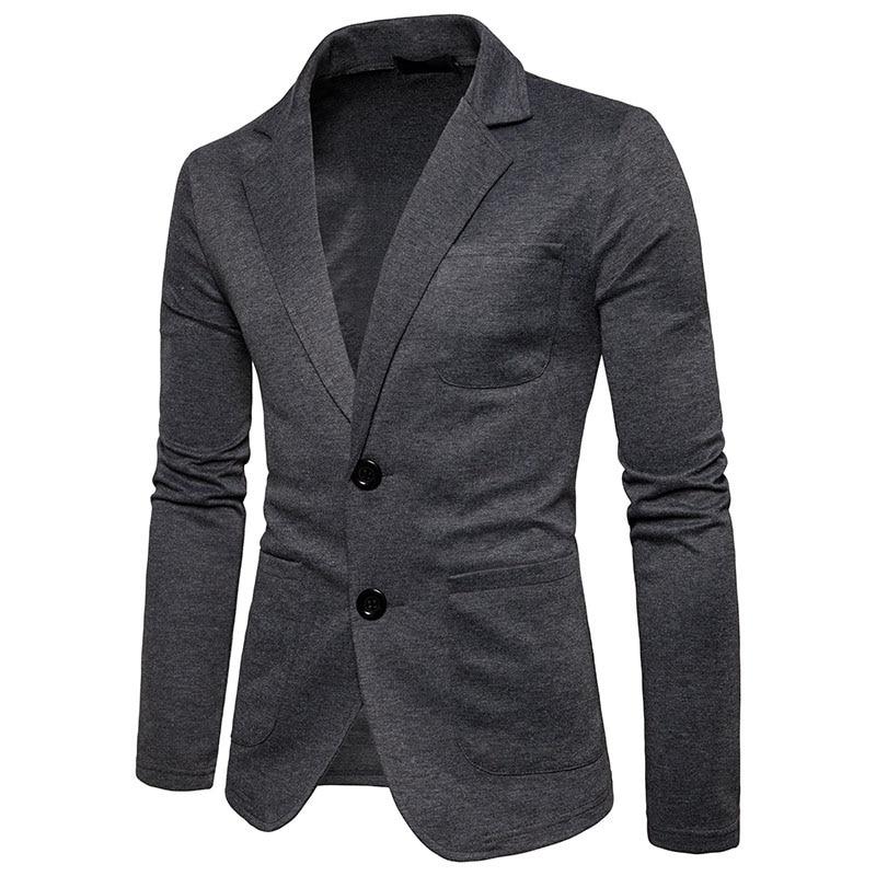 OLOME Jackets Cotton Blazer Casual-Suit Slim-Fit Male Plus-Size Mens Fashion Business