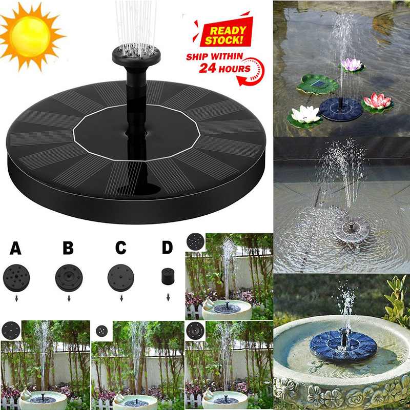 AKDSteel 180L/H Solar Water Fountain Garden Pool Pond Outdoor Solar Panel Fountain Floating Fountain Garden Decoration