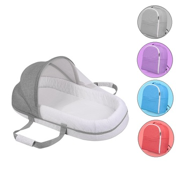 Portable Bed For Baby Foldable Baby Bed Travel Sun Protection Mosquito Net Breathable Infant Cotton Cradle Crib Sleeping Basket baby foldable crib travel portable newborn bed sleeping basket bassinet multifunctional portable baby crib with mosquito netting