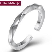 Anel Ajustável mulheres Real de 100% 925 Sterling Silver Criativo Suave Abertura Anéis de Casamento Fine Jewelry bagues pour femme 2019 R3