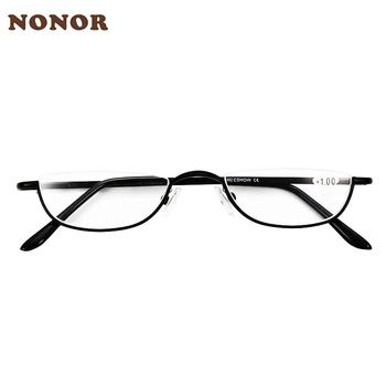 NONOR pół ramki metalowe okulary do czytania mężczyźni okulary do czytania pół obręczy damskie okulary Unisex okulary okulary do czytania dla mężczyzn 1 5 tanie i dobre opinie WOMEN Jasne CN (pochodzenie) Lustro N-R16RP014 2 1cm Z poliwęglanu 4 9cm Z tworzywa sztucznego 100 150 200 250 300 red grey gold