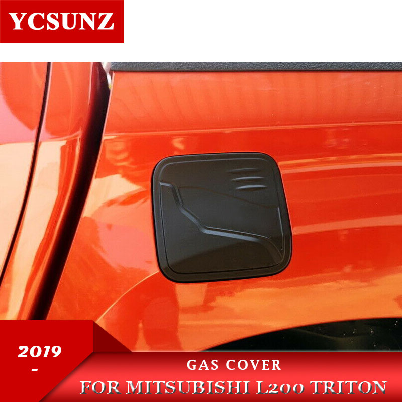 Gas cover For Mitsubishi L200 Triton 2019 2020 Ram 1200 Strada Strakar Barbarian ABS Matte Black Color image