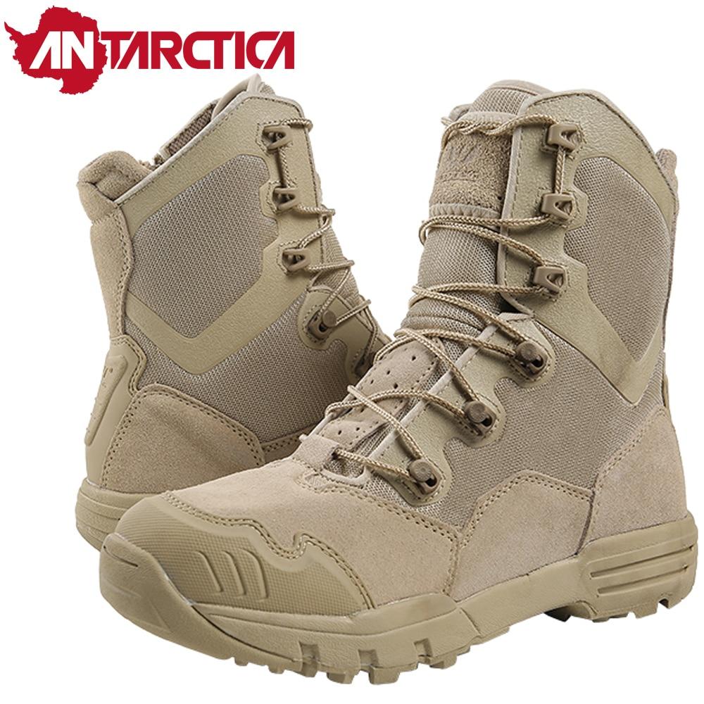 592 Trekking Army Military Desert Combat Outdoor Men's Hiking Shoes Waterproof Hiking Tactical Boots Mountain Climbing Sneakers
