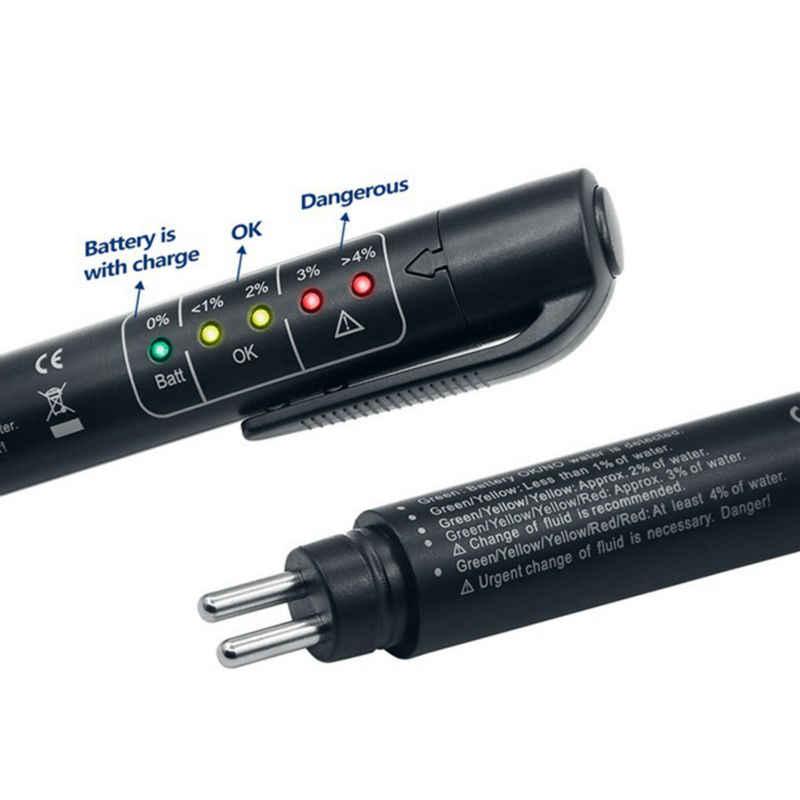 OBD2 Akurat Kualitas Minyak Check Pen 5 LED Cairan Rem Rem Mobil Cair Digital Tester untuk Kendaraan Auto Mobil alat Uji
