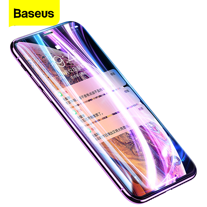 Baseus 0.2mm Screen Protector Tempered Glass For iPhone XS Max XR X S R Xsmax Protective Glass Cover Film For iPhoneXS iPhoneX(China)