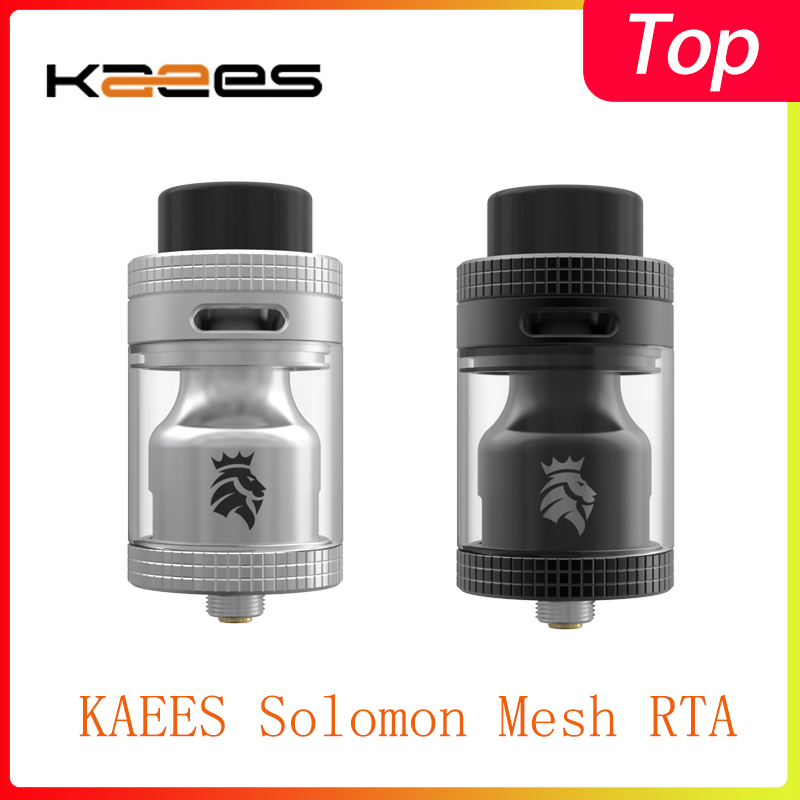 Newest Vape Tank KAEES Solomon Mesh RTA With 810/510 Drip Tip& 6.5ml/3.5ml Capacity  Electronic Cigarette Atomizer