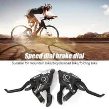 LN/_ 2Pc Cycling MTB Mountain Road Bike Bicycle Speed Shifter Shift Brake Lever