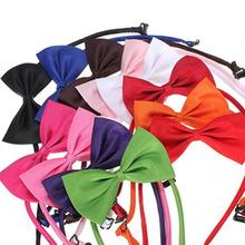 Dog Cat Bow Tie Cute Solid Color Adjustable Cat Bow Tie Pet Dog Collar Bowknot Bow Ties Gentleman Dog Bow Tie Pet Supply customized name phone dog collar leash rope christmas decoration pet necklace with bow tie walking dog straps adjustable buckles