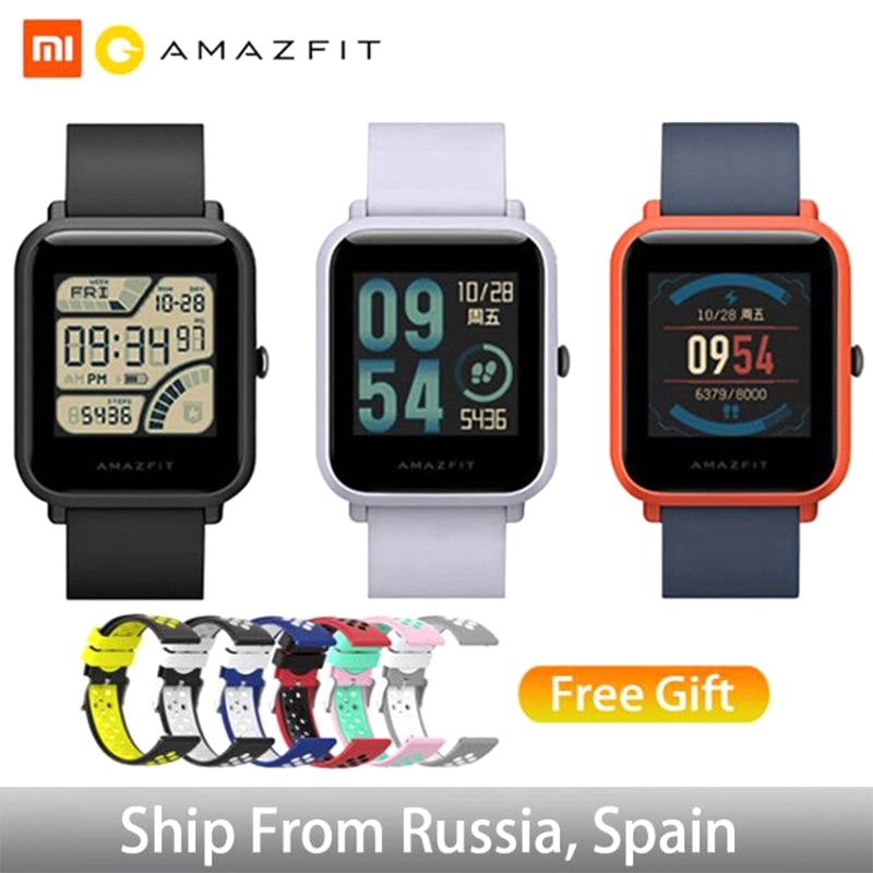 Huami Xiaomi Amazfit Bip Global Versie Smart Horloge Engels/Spaans/Russisch GPS Smartwatch Android iOS Hartslagmeter-in Smart watches van Consumentenelektronica op  Groep 1