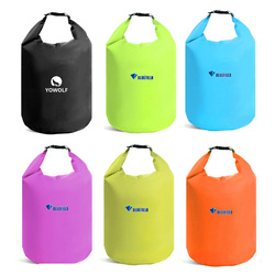 Outdoor 6 Color 10L 20L Outdoor swimming Waterproof Bag Camping Rafting Storage Dry Bag with Adjustable Strap Hook