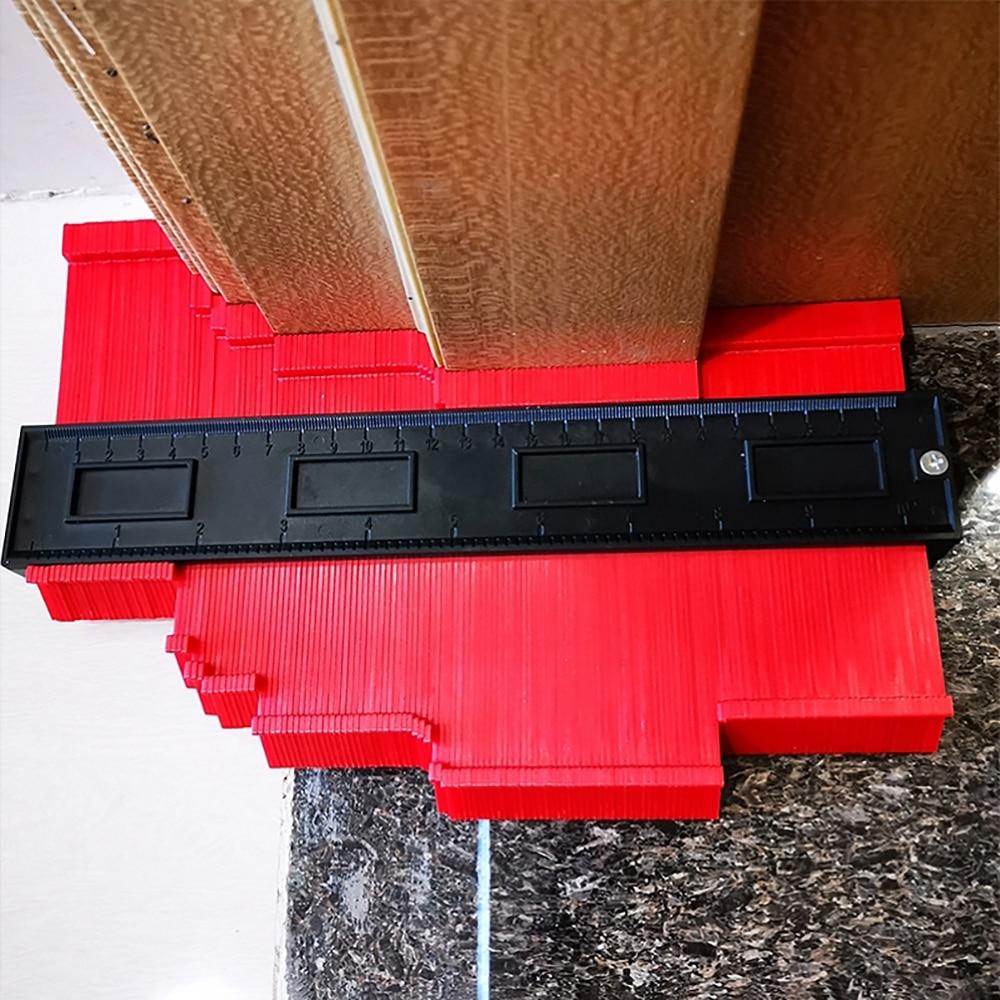 25/14/12 Cm Irregular Contours Gauge Arc Ruler Plastic Gauge Contour Profile Scale Template Curvature Scale Tiling Laminate