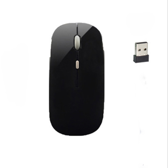 Bảng giá 2.4Ghz Wireless Mouse Rechargeable Wireless Mouse Charging Silent Mouse with USB Receive 500mAh Ergonomics Optical Mouse Phong Vũ