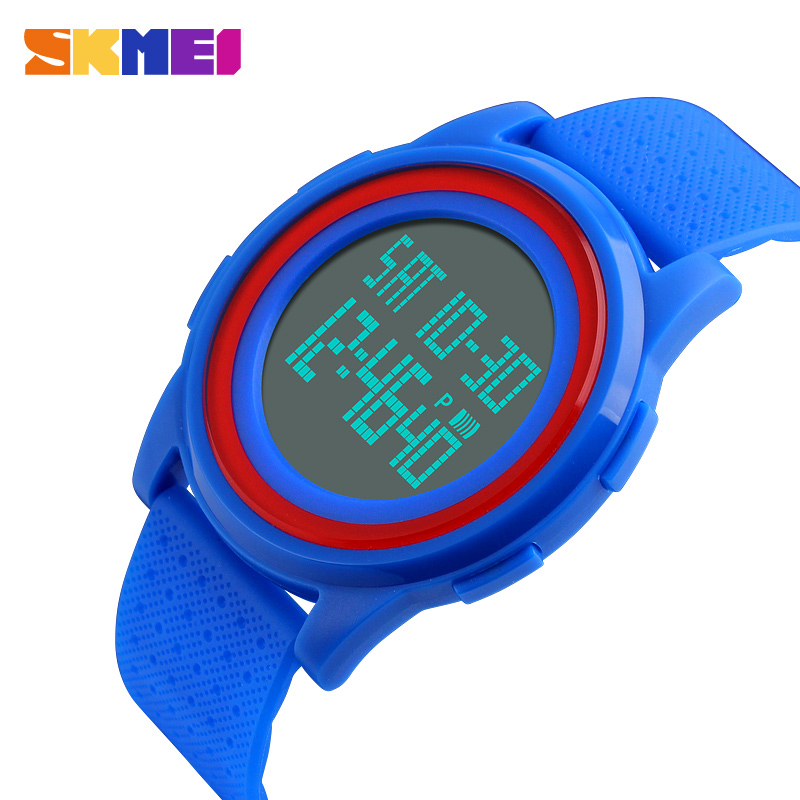 <font><b>SKMEI</b></font> Light Thin Watch Women Men Sport Wristwatch LED Light Digital Male Female Electronic Clocks Waterproof reloj hombre <font><b>1206</b></font> image