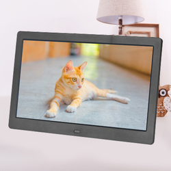 FULL-10 Inch Digital Alarm & Photo Frame LED Screen Simple Eletronic Photo Album Support Clock/Calendar/Time Setting/Music/Photo
