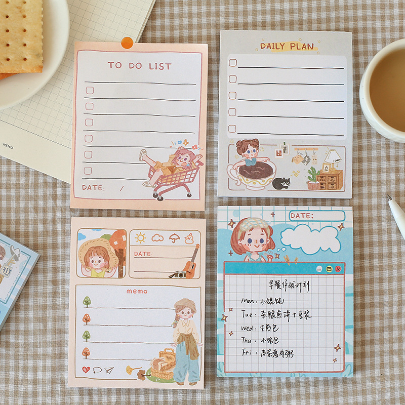 Mohamm 50 Pcs/lot Cute Do Do List Daily Planner Notepad Memo Pad School Supplies Paper Stationary Office Accessories
