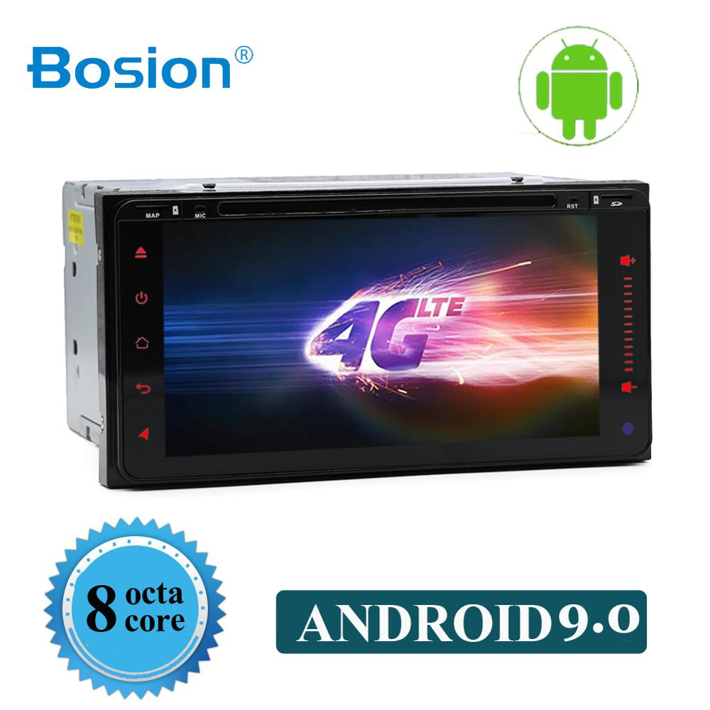 Octa core Android 9.0 car dvd for toyota corolla <font><b>2</b></font> <font><b>Din</b></font> Universal car radio with navigation Bluetooth Wifi car stereo gps player image