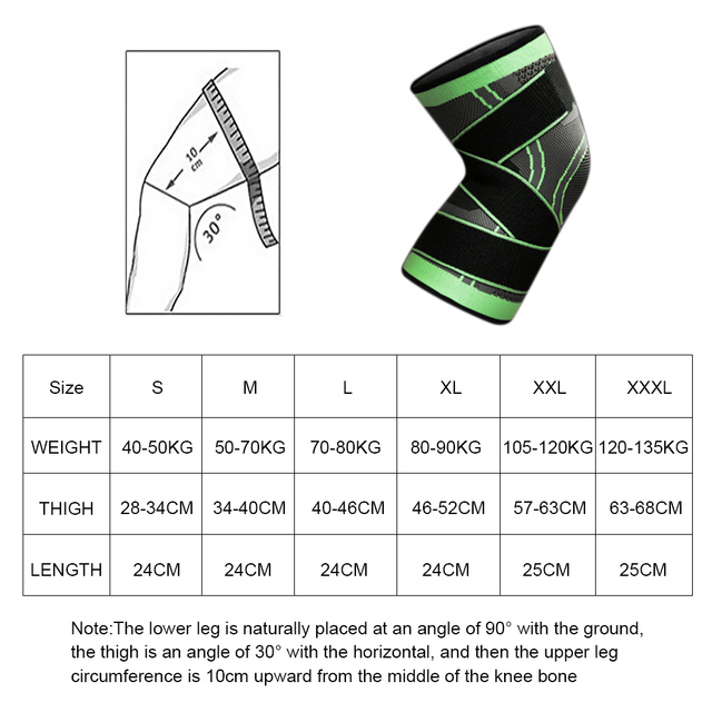 1PC Kneepad Elastic Bandage Pressurized Knee Pads Knee Support Protector for Fitness sport running Arthritis muscle joint Brace 6