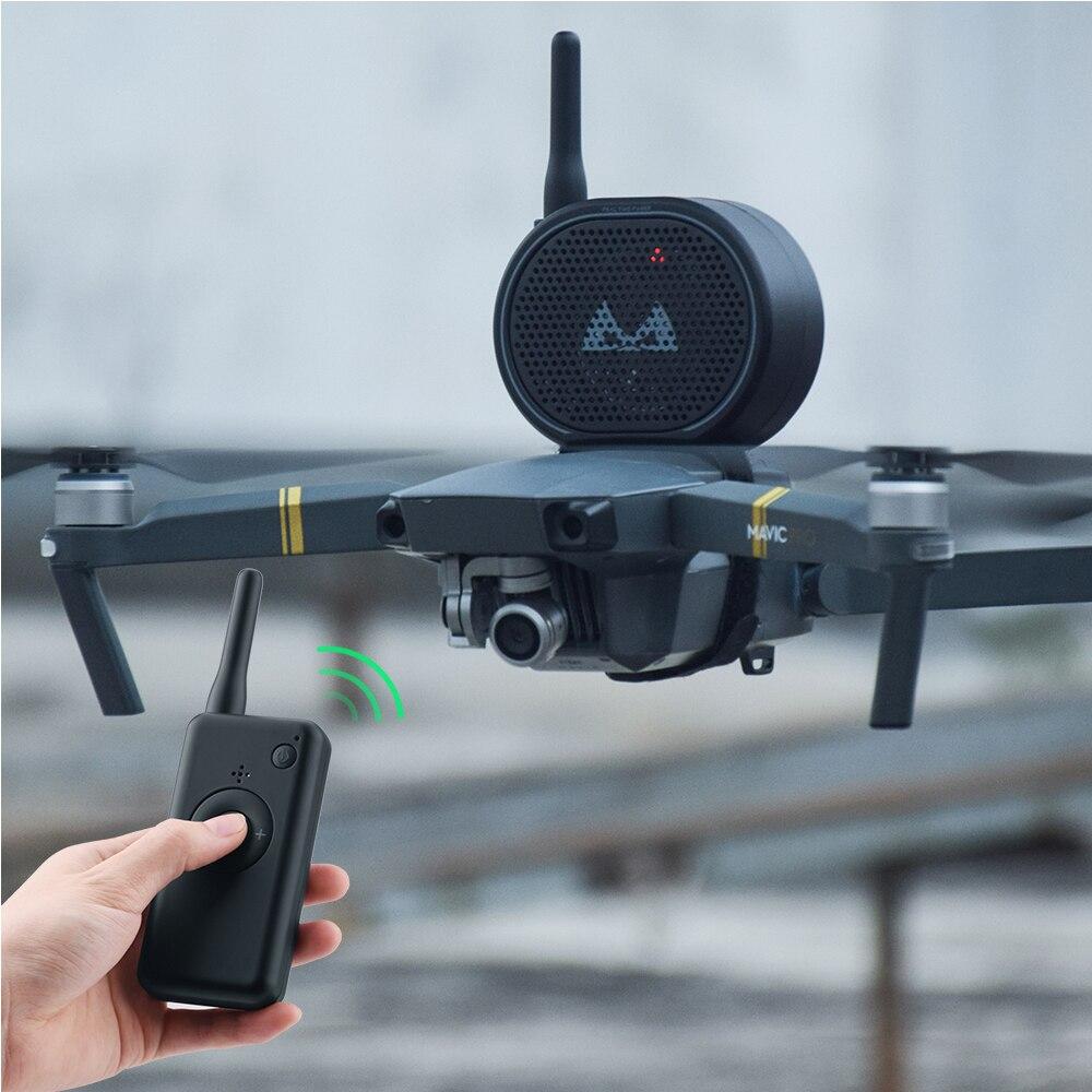 SUNNYLIFE Wireless Drone Speaker USB Charging Remote Control Loud Drone Megaphone For DJI Mavic Mini/2/pro/air Drone Accessories