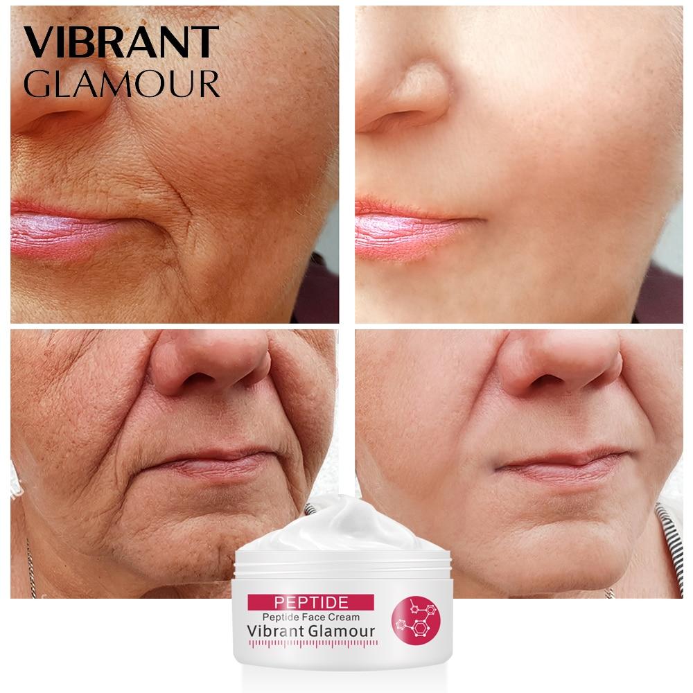 VIBRANT GLAMOUR Peptides Collagen Face Cream Rejuvenation Anti Wrinkle Anti-Aging Whitening Moisturizing Skin Care Product New