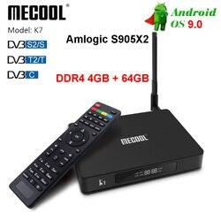 MECOOL K7 Smart Tv Box Android 9.0 Amlogic S905x2 2.4G 5G WIFI LAN 10/100M Bluetooth 4.1 4GB 64GB DVB S2/S DVB T2/T DVB C Tv Box Dekodery STB Elektronika użytkowa -