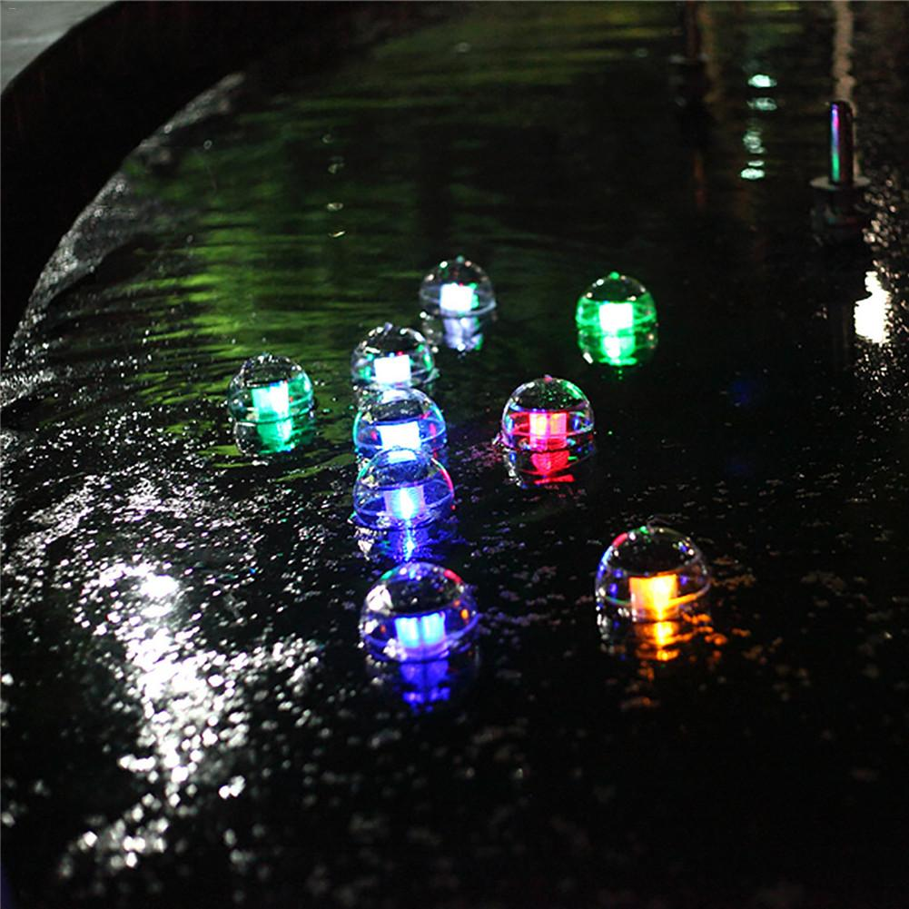 LED Disco Light Pool Light Solar Water Drift Lamp Floating Underwater Glow Show Swimming Pool Hot Tub Spa Lamp Disco Piscine