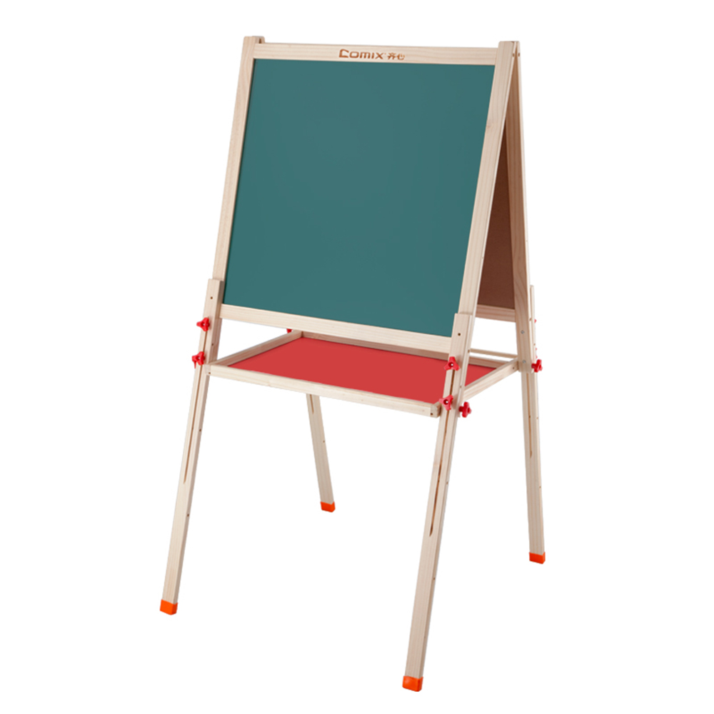 Comix Double Sided Magnetic Whiteboard Painting Easel With Storage Tray For Small Kids And Toddlers