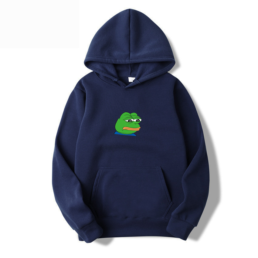 2019 Autumn And Winter Brand Sweatshirts Men High Quality sad frog Letter Printing Fashion Mens women Hoodies Thickened Pullover