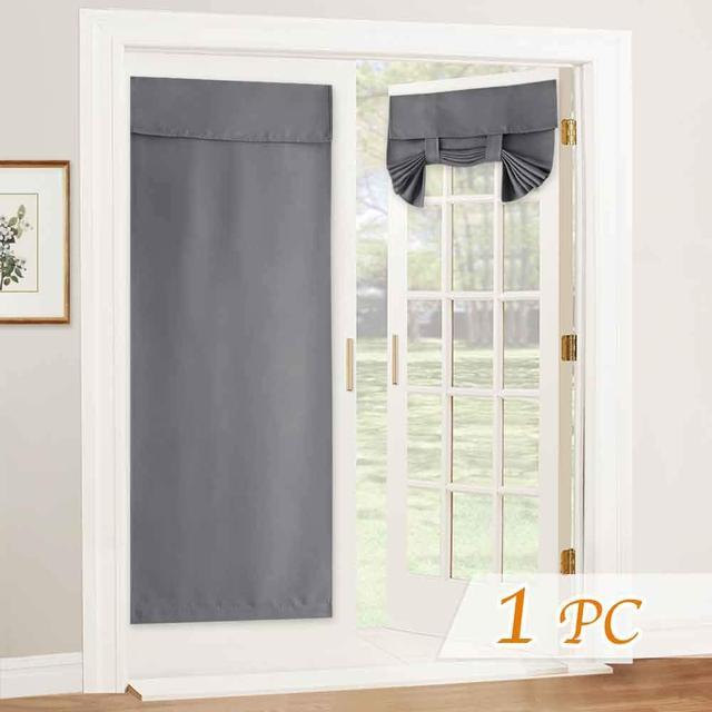 nicetown blackout tricia window door curtain light block french door curtain length adjustable tie up shades double door blind