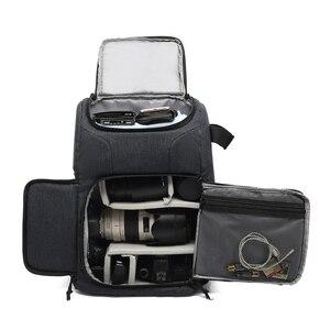 Image 4 - Mochila multifuncional à prova d água, bolsa para câmera, mochila portátil, grande capacidade, para fotografia externa