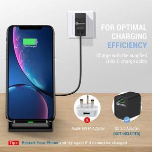 Image 5 - FDGAO Soporte de cargador inalámbrico para iPhone, soporte de carga rápida de 15W Qi para iPhone 12, 11 Pro, XS, MAX, XR, X, 8, Samsung S8, S9, S10, S20