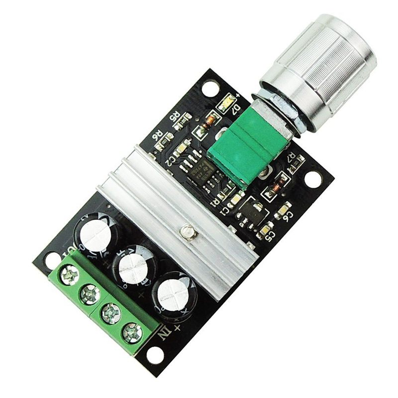 Hot XD-6V 12V <font><b>24V</b></font> 28V 3A 80W <font><b>DC</b></font> <font><b>Motor</b></font> Speed Controller PWM Adjustable Variable Speed Switch <font><b>DC</b></font> <font><b>Motor</b></font> <font><b>Driver</b></font> 1203BK Silver Switch image