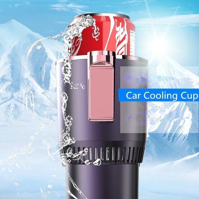 DC 12V 자동차 난방 냉각 컵 2-in-1 자동차 오피스 컵 따뜻한 쿨러 스마트 자동차 컵 머그잔 홀더 텀블러 냉각 음료 음료 캔