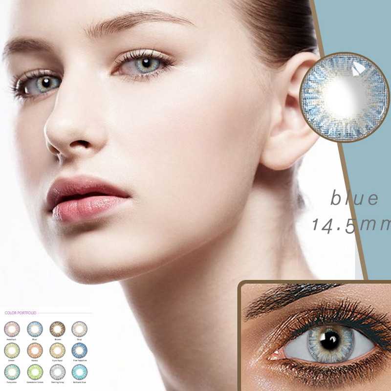 Beautiful Pupil Color Contact Lenses Monthly Throw Female Path 14.5mm Cute Multicolor Party Gift Car