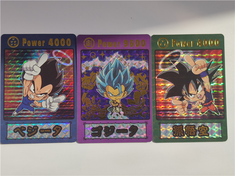 3pcs/set Super Saiyan Wafer Dragon Ball Z Q Bronzing Process Heroes Battle Card Ultra Instinct Goku Vegeta Game Collection Cards