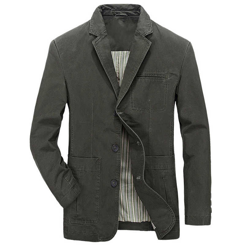 Avrupa tarzı erkek takım elbise ceket ve mont rahat ince haki süet mont moda bahar ve yaz adam Streetwear avrupa A733