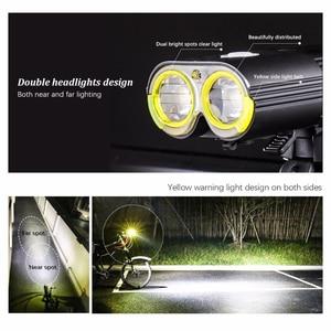 Image 2 - Bicicleta profissional ipx6 à prova dwaterproof água 1600 lumens luz ciclismo power bank acessórios da bicicleta usb recarregável lanterna lâmpada