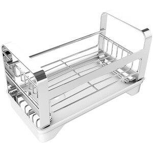 Органайзер для раковины из нержавеющей стали, вмещает губку для кухонной раковины с вешалкой для посуды, вешалка для мыла