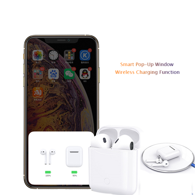 Image 2 - TWS I12  Portable IPX5 Waterproof Headphone Mini Wireless BluetoothEarbuds In ear Bluetooth Earphone For IP8 IP7 i7s And Xiaomi-in Bluetooth Earphones & Headphones from Consumer Electronics