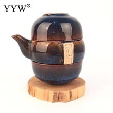 Drinkware Accessories Portable Travel Kung Fu Tea Sets Ceramic Teapot Teacups Kettles Coffee Container Porcelain Teaset