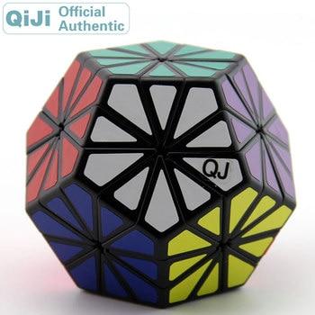QiJi Chrysanthemum Magic Cube QJ Megaminxeds Cubo Magico Professional Neo Speed Cube Puzzle Antistress Toys For Children xmd x man galaxy v2 megaminxeds cube qiyi mofangge professional speed magic cubes neo magico cubo puzzles cube toys for children