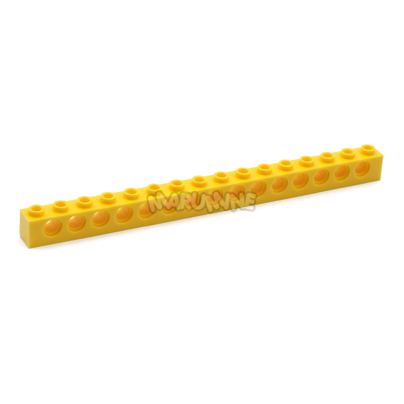 Missing Lego Brick 3703 Yellow x 2 Technic Brick 1 x 16 with Holes