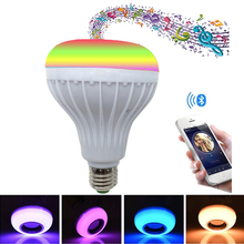 Smart E27 12W Remote Control Bulb Lamp Bluetooth Audio Playback Dimming Lamp LED Lamp RGB Colorful Music Bulb Stage Lamp