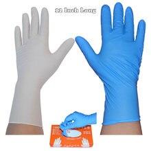 12 Polegada longo 100 pçs/caixa luvas descartáveis do trabalho do nitrilo luvas impermeáveis para a proteção das mãos da cozinha da limpeza da tatuagem
