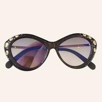 Cat eye Sunglasses Women Luxury Brand Designer Vintage Gradient Diamonds Sun glasses Female