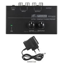PP500 Phono Preamplificatore Preamplificatore con il Livello di Controllo Del Volume per LP In Vinile Giradischi Dropship